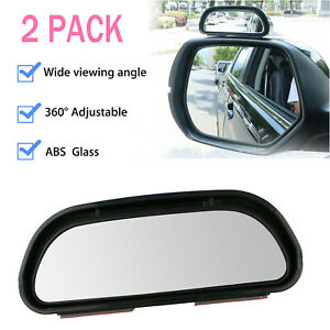 2pack Universal Car Truck Wide angle Rear Side view Blind Spot Mirror Adjustable