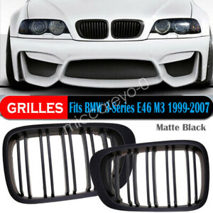 Carbon Fiber Kidney Grille Grill For Bmw E46 M3 3 Series 1998 01 1lufy5