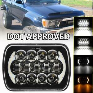 Brightest 5x7 7x6 Inch Rectangle Led Cree Headlight Drl For Toyota Pickup Truck