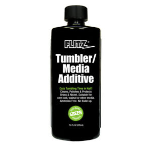 Flitz TumblerMedia Additive - 7.6 oz. Bottle Safe for ALL metals and primer $22.56
