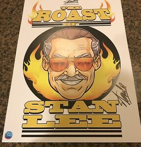 Stan Lee Roast Litho Signed by Stan Lee with COA Extremely Limited SPIDER MAN $195.95