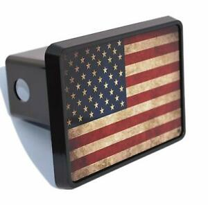 Usa American Flag Trailer Hitch Cover Plug Us Patriotic Vintage Military Veteran