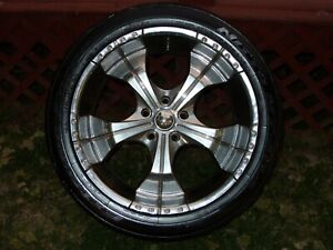 22 Inch Chrome Pacer Rims Nitto Tires