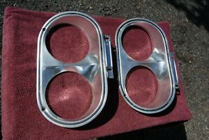 1963 Plymouth Belvedere Fury Sport Fury Left And Right Headlight Bezels Orig