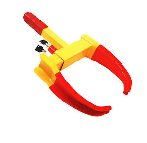 Wheel Lock Clamp Boot Tire Claw Auto Truck Rv Boat Trailer Anti Theft Towing S