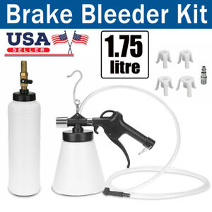 Motorcycle Car Pneumatic Brake Fluid Bleeder Kit Air Clutch Oil Bleeding Tools