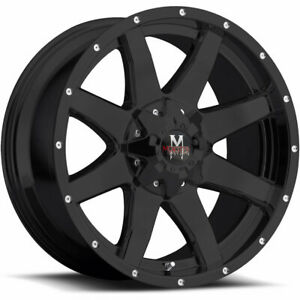 4 18x9 Black Off Road Monster M08 Wheel 6x135 6x139 7 0 Offset M08860702