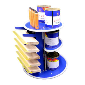 Desktop Screen Printing Squeegee Rack Rotary Ink Bottle Squeegee Storage Shelf
