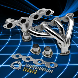Fit Chevy Big Block V8 Stainless Steel Hugger Street Rod Header Manifold Exhaust