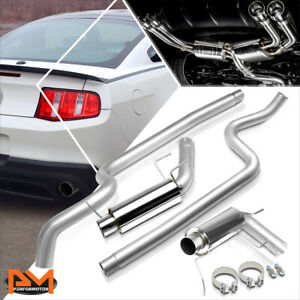 For 11 14 Ford Mustang 5 0 3 od In outlet Stainless Steel Catback Exhaust System