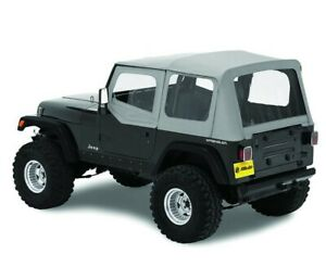 Bestop Factory Soft Top Skin For Jeep Yj Wrangler 88 95 Half Door Clear Gray