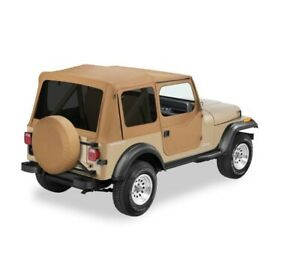 Bestop Factory Soft Top Skin For Jeep Yj Wrangler 88 95 Half Door Tinted Spice