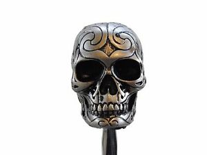 New Celtic Skull Head Shift Knob Solid Resin Rat Rod Gear Lever Hot Rod
