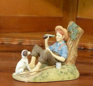 Coca Cola 100th Anniversary 1886-1986 NORMAN ROCKWELL The Barefoot Boy FIGURINE