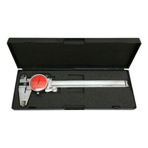 Red Face 0 6 Stainless Steel 4 Way Dial Caliper Shock Proof 0 001 Graduation
