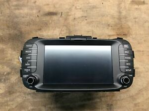15 16 Kia Soul Am Fm Navigation Radio Receiver 8 Display Screen Oem Lkq