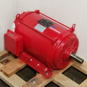 Lincoln 40 Hp 3600 Rpm Odp 230 460 Volts 286ts Fire Pump 3 Phase Motor Lm80264