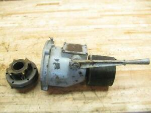 Original Vintage Wisconsin V4 Gas Engine Pto Flat Belt Snap Clutch Assembly