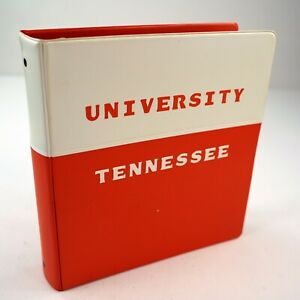 Vtg University Of Tennesse Volunteers 2 3 Ring Binder Orange White Organizer 6c
