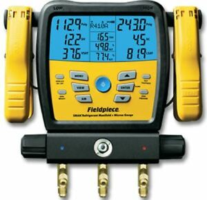 Fieldpiece Sman380v 3 port Wireless Digital Manifold With Micron Gauge
