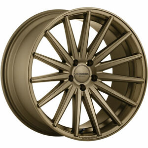 4 Staggered 19x9 19x10 5 Vossen Vfs2 Bronze 5x120 20 25 Wheels Rims