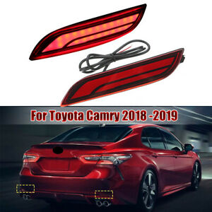 Car Led Light Rear Warning Bumper Light Brake Light Rear For Toyota Camry 18 19