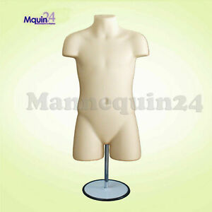 Flesh Mannequin Child Torso Dress Form W stand Hook For Hanging