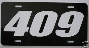 409 Engine Size License Plate Fits Chevy Bel Air Impala Super Sport Gasser