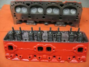 327 Small Block Chevy Heads Cast Iron Pair Ready To Bolt On And Go
