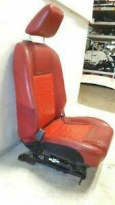 2005 2009 2007 Ford Mustang Seat Leather Front Driver Left Pwr Red Oem T50858