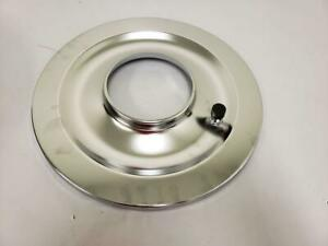 14 Round Chrome Flat Air Cleaner Base 5 1 8 Neck Opening Carter Holley Rod