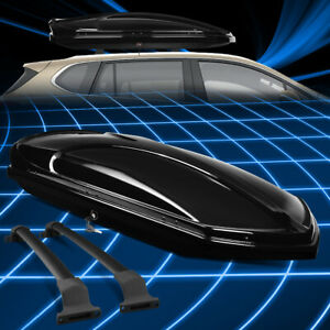 For 16 19 Buick Envision Rooftop Cargo Carrier Box Case W Aluminum Cross Bar