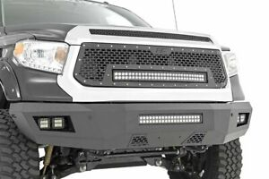 Rough Country Heavy Duty Front Bumper W Led fits 2014 2019 Toyota Tundra