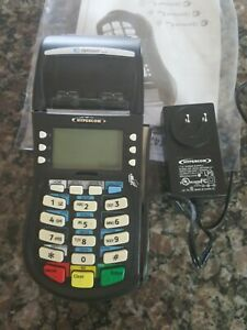 Hypercom Optimum T4220 Credit Card Terminal Used With Box And Power Cord