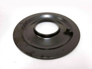 14 Round Black Flat Air Cleaner Base 5 1 8 Neck Opening Carter Holley Rod