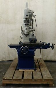 Pratt Whitney Jig Bore Machine No 1 1 2b 12 X 24 T slot Table 60 Cycle