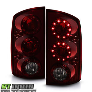 Red Smoked 2002 2006 Dodge Ram 1500 03 06 Ram 2500 3500 Led Tail Lights Lamps