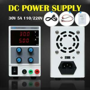 30v 5a Adjustable Dc Power Supply Precision Variable Dual Digital Lab Test 110v