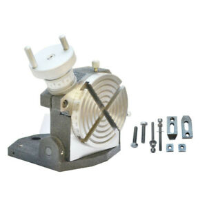 Heavy Duty 4 Rotary Table With Tilting Base Horizontal Vertical Milling