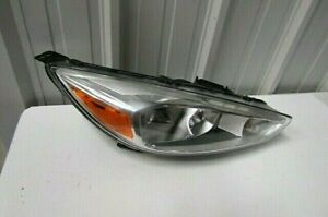2015 2016 2017 Ford Focus Genuine Oem Right Halogen Chrome Bezel Headlight D6
