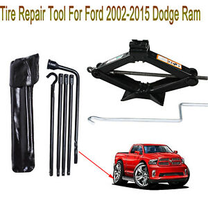 Tire Repair Tools Kits Heavy Duty For Dodge Ram 2002 2015 Scissor Jack New