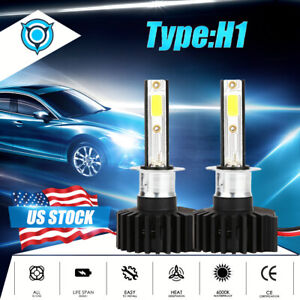 H1 Led Headlight Bulb Kit 2200w 330000lm High Beam Fog Light Xenon 6000k White