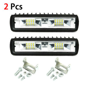 2x 48w 6inch Led Work Light Bar Flood Lamp Offroad Driving Fog 4wd Suv Ute Truck