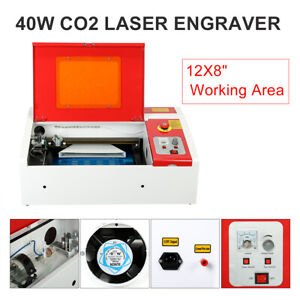 40w 8x12 Co2 Laser Engraver Engraving Cutting Machine Usb Upgraded Display