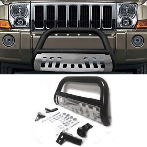3 steel Bull Bar Front Bumper Grille Guard Black silver For 05 15 Toyota Tacoma