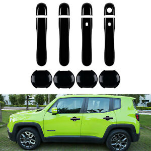 Car Exterior Door Handle Cover Bowl Trim For 2015 2018 Jeep Renegade Accessories