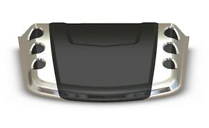 Avs Bullet Hood Scoop Universal Fit Smooth Dark Smoke W Chrome Accent 80012