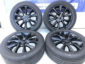 20 Dodge Durango Factory Wheels Rims Tires Gloss Black Oem Set Of 4 2496