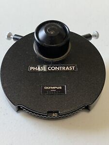 Olympus 1 25 Phase Contrast Turret Condenser Compatible With Bh Microscopes