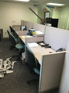 8 x8 Office Cubicles Workstations Good Condition Clean